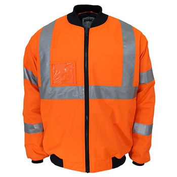 Orange - 3763 HiVis X back flying jacket Biomotion tape - DNC Workwear