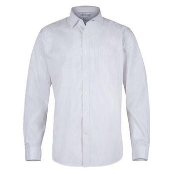 White-Silver - 1906L Mens Long Sleeve Bayview Shirt - Aussie Pacific