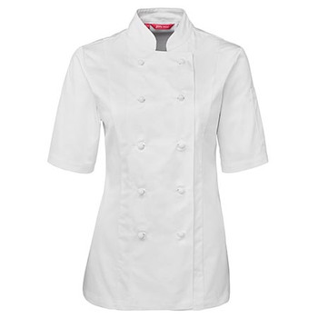 5CJ21 - JB's Ladies S/S Chef's Jacket - White