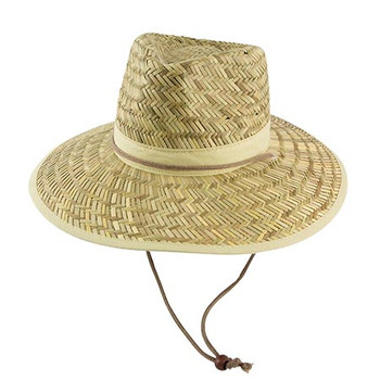3942A - Straw Hat w/Toggle - Natural