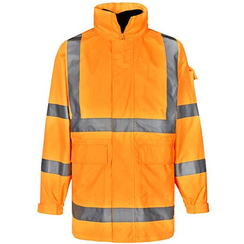Orange - SW75 Vic Rail Hi Vis Safety Jacket - Unisex - Winning Spirit