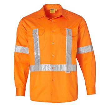 Orange - SW56 Cotton Drill Safety Shirt - Winning Spirit