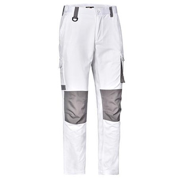 White - WP05 Unisex Utility Stretch Cargo Work Pants - Winning Spirit