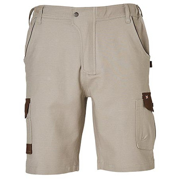 Sand - WP23 Mens Stretch Cargo Work Shorts with Design Panel Treatment - Winning Spirit