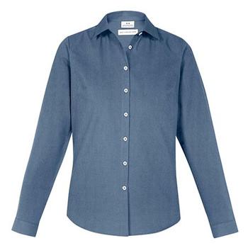 Grey Smoke - S127LL Ladies Memphis Shirt - Biz Collection