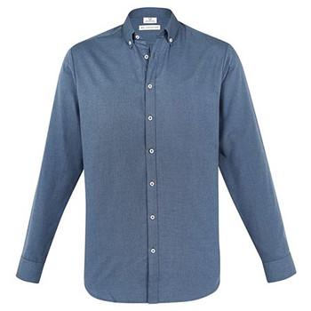 Grey Smoke - S127ML Mens Memphis Shirt - Biz Collection
