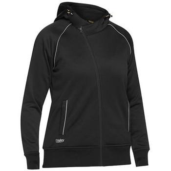 Black - BKL6925 Womens Fleece Zip Front Hoodie with Sherpa Lining - Bisley