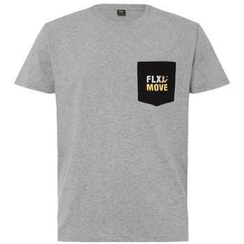Grey Marle - BKT065 Flx & Move Cotton Tee - Bisley