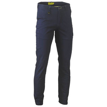 Navy - BPC6028 Stretch Cotton Drill Cargo Cuffed Pants - Bisley