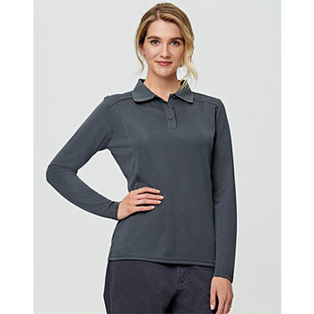 E-PS90 Ladies Lucky Bamboo L/S Polo - Winning Spirit