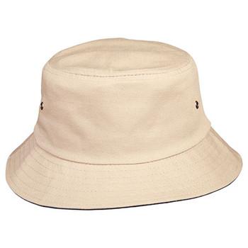 Sand-Dark Navy - CH32A Bucket Hat - Winning Spirit