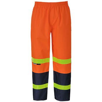 Orange-Navy - 6DPYP Vic Road Rain Pant with Tape - JBs Wear