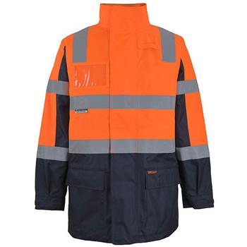 Orange-Navy - 6DNCJ Hi Vis Visionary Jacket - JBs Wear