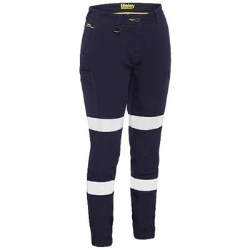 BPL6028T - Womens Taped Cotton Cargo Cuffed Pants - Navy