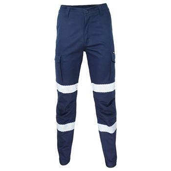 Navy - 3372 SlimFlex Cushioned Knee Pads Bio-Motion Segment Taped Cargo pants - DNC Workwear