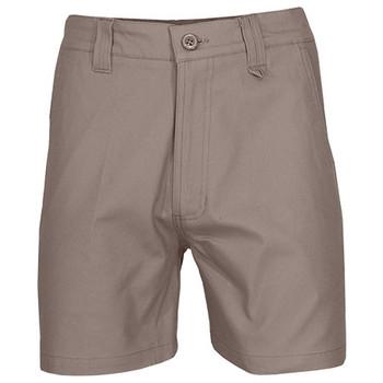 Khaki - 3374 SlimFlex Tradie Shorts - DNC Workwear