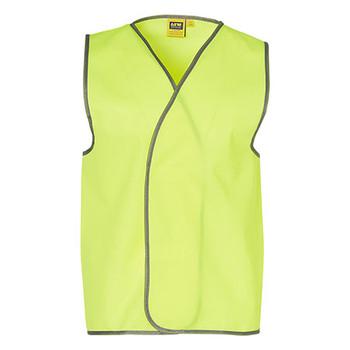 Yellow - SW02A Hi-Vis SAFETY VEST Adult - Australian Industrial Wear