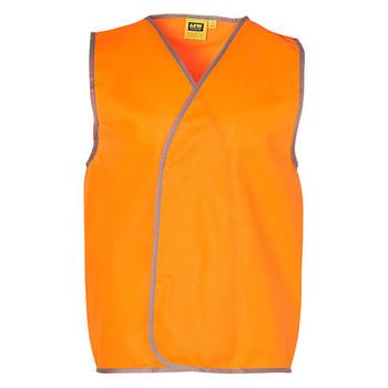 Orange - SW02A Hi-Vis SAFETY VEST Adult - Australian Industrial Wear