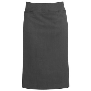 Charcoal - 20111 Womens Relaxed Fit Skirt - Biz Corporates