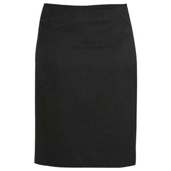 Charcoal - 20112 Womens Bandless Lined Skirt - Biz Corporates