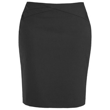 Charcoal - 20114 Womens Chevron Skirt - Biz Corporates