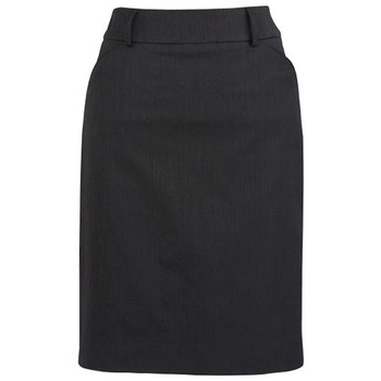 Charcoal - 20115 Womens Multi-Pleat Skirt - Biz Corporates