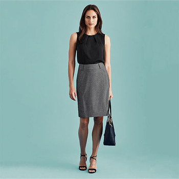 20316 - Womens Panelled Skirt with Rear Split - Display