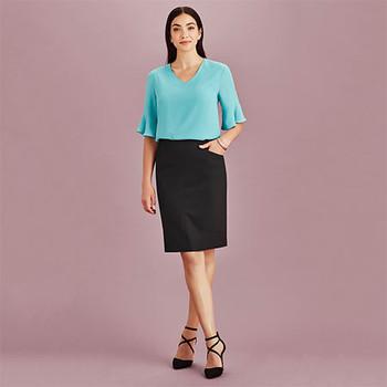 20717 - Womens Bandless Pencil Skirt - Display