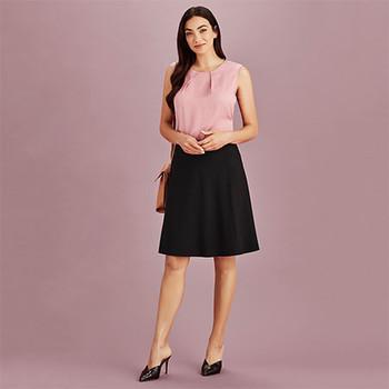 20718 - Womens Bandless Flared Skirt