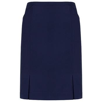 Marine - 20720 Womens Front Pleat Detail Straight Skirt - Biz Corporates