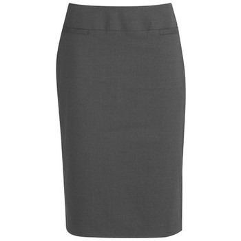 Charcoal - 24011 Womens Relaxed Fit Skirt - Biz Corporates