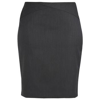 Charcoal - 24014 Womens Chevron Skirt - Biz Corporates