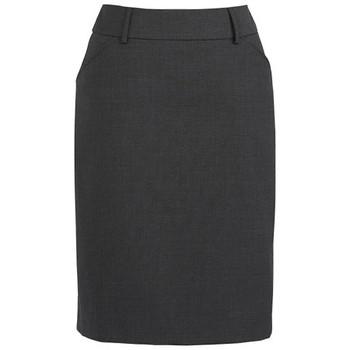 Charcoal - 24015 Womens Multi-Pleat Skirt - Biz Corporates