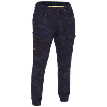 Navy - BPC6337 Flex and Move Stretch Camo Cargo Pants - Limited Edition - Bisley