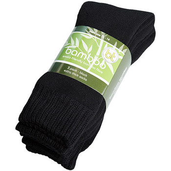 Black - BETS-3 Bamboo Extra Thick Socks - 3 Pack - Bamboo Textiles