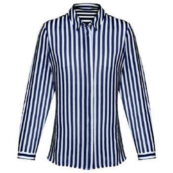 Navy - 43610 Womens Verona Long Sleeve Blouse - Biz Corporates
