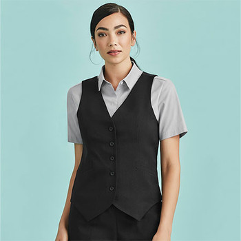 50111 Womens Peaked Vest with Knitted Back - Biz Corporates