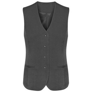 Charcoal - 50112 Womens Longline Vest - Biz Corporates