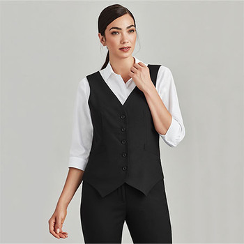 54011 Womens Peaked Vest with Knitted Back - Biz Corporates