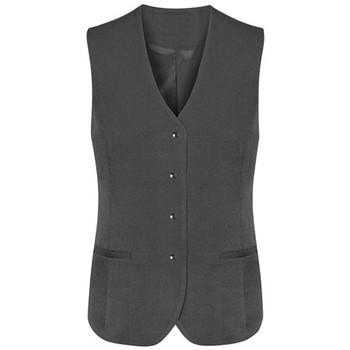 Charcoal - 54012 Womens Longline Vest - Biz Corporates