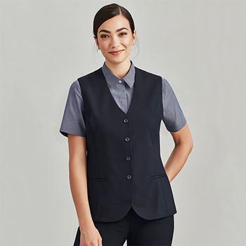 54012 Womens Longline Vest - Biz Corporates