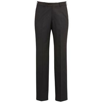 Charcoal - 70112R Mens Flat Front Pant - Regular - Biz Corporates