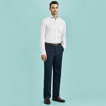 70112R Mens Flat Front Pant - Regular - Biz Corporates