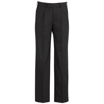 Charcoal - 74011R Mens One Pleat Pant Regular  - Biz Corporates