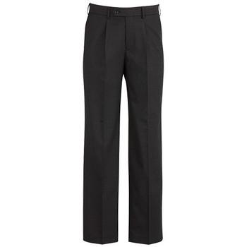 Charcoal - 74011S Mens One Pleat Pant Stout - Biz Corporates