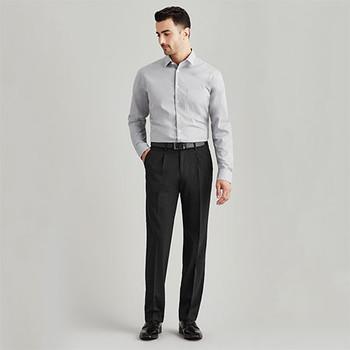 74011S Mens One Pleat Pant Stout - Biz Corporates