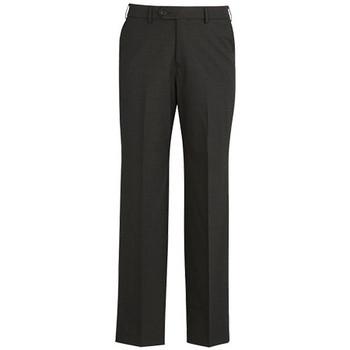 Charcoal - 74012 Mens Flat Front Pant - Biz Corporates