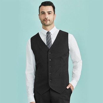90111 Mens Peaked Vest with Knitted Back - Biz Corporates