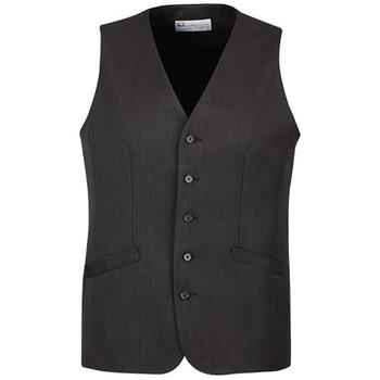 Charcoal - 90112  Mens Longline Vest - Biz Corporates