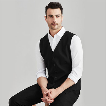 94011 Mens Peaked Vest with Knitted Back - Biz Corporates
